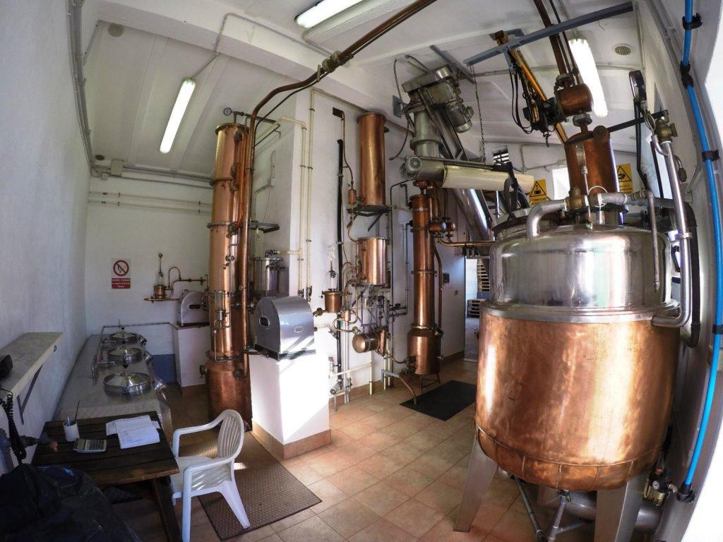 Blick in die Distillerie